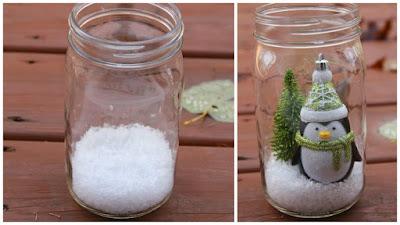 Adornos navide os con frascos de vidrio reciclados - Diy frascos decorados ...