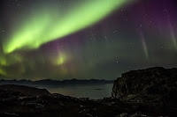Zorza polarna sfotografowana 28.09.2017 z Aun Harstad w Norwegii. Credits: Marcus Rivers