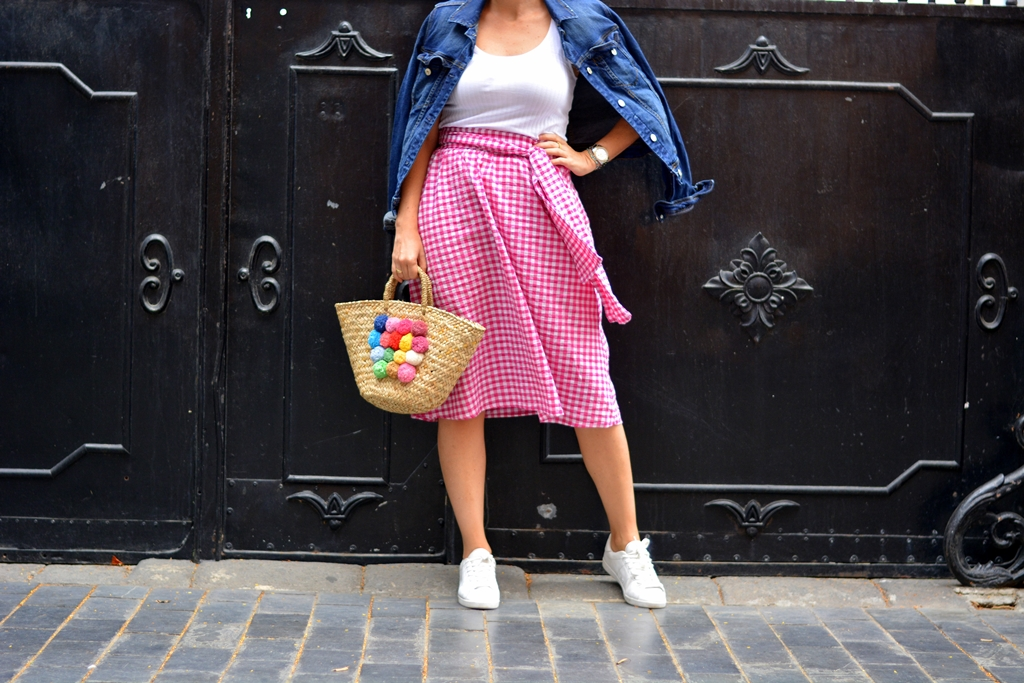 zara-vichy-skirt-outfit-looks