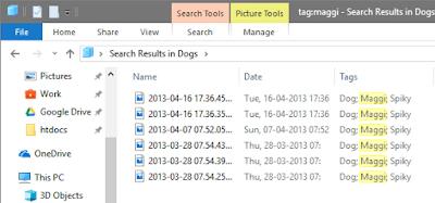 mencari file yang sudah diberi tag
