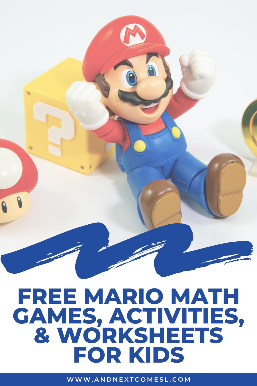 Mario math games, activities, & worksheets for kids