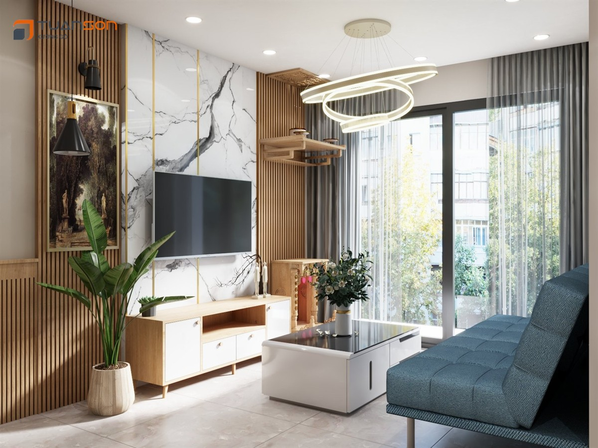 Thiết kế căn hộ 2PN+1 (55m2) S2.16-24 Vinhomes Ocean Park Gia Lâm