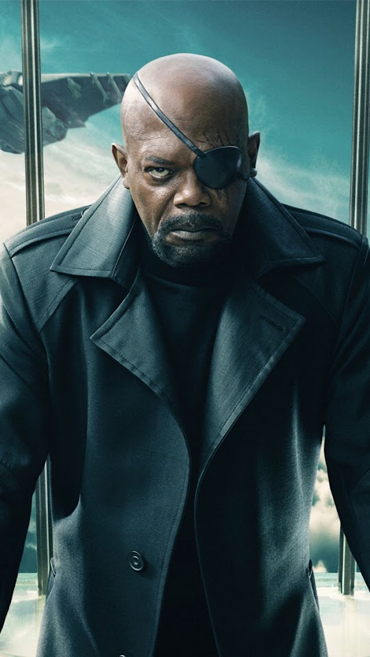 Nick Fury Captain America The Winter Soldier   Galaxy Note HD Wallpaper