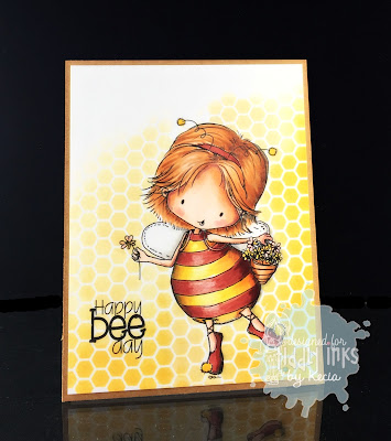 Tiddly Inks, Kecia Waters, Copic markers, bee, Happy Bee Day
