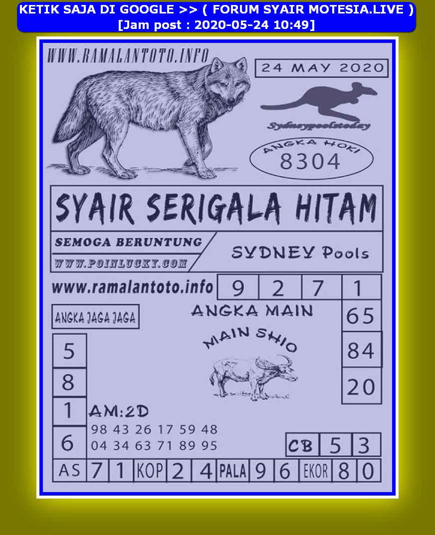 Kode syair Sydney Minggu 24 Mei 2020 165