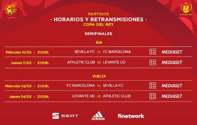 horarios semifinales copa