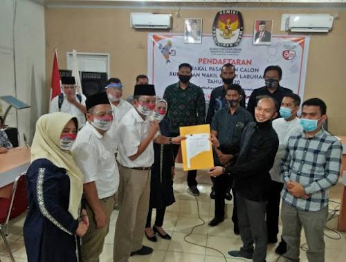 KPU Labuhanbatu Terima Pendaftaran Tigor-Idlin: Telah Terima Pendaftaran 5 Paslon