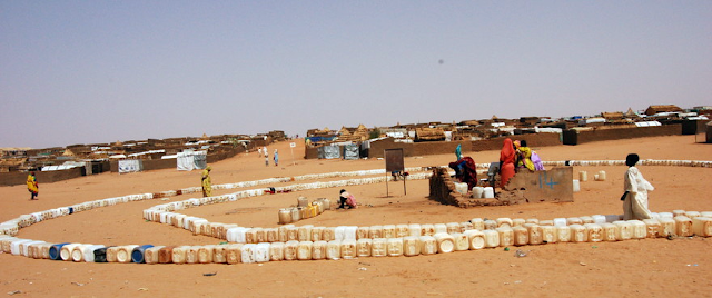 A grim image of how the water shortage affects Darfuris