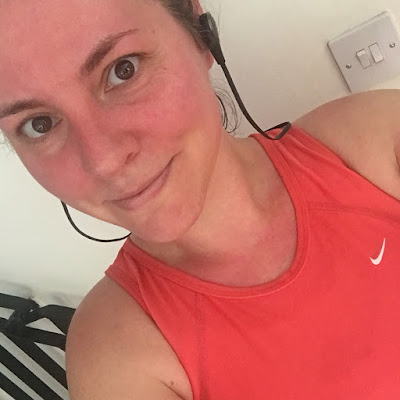 After my second run. Quite hot!