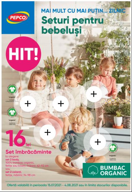 PEPCO Brosura + Promotii si oferte 15.07 - 04.08 2021→ Seturi pentru bebeluși