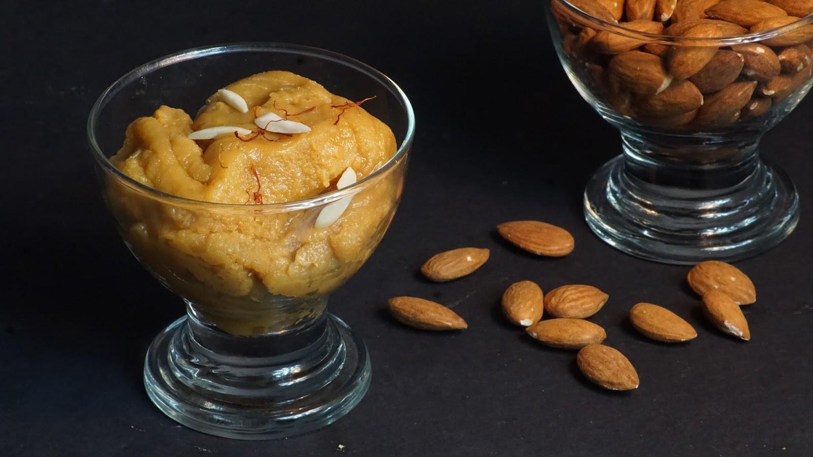 Badam halwa recipe badam ka halwa almond halwa recipe