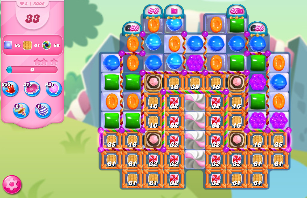Candy Crush Saga level 8006