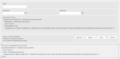 SharePoint form field data binding