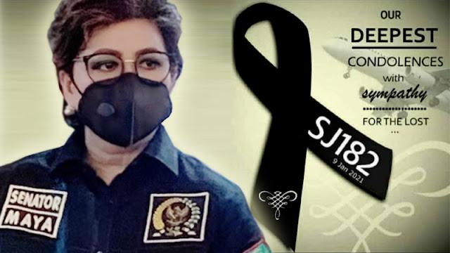 Senator Maya Rumantir Prihatin Tragedi Sriwijaya Air SJ 182