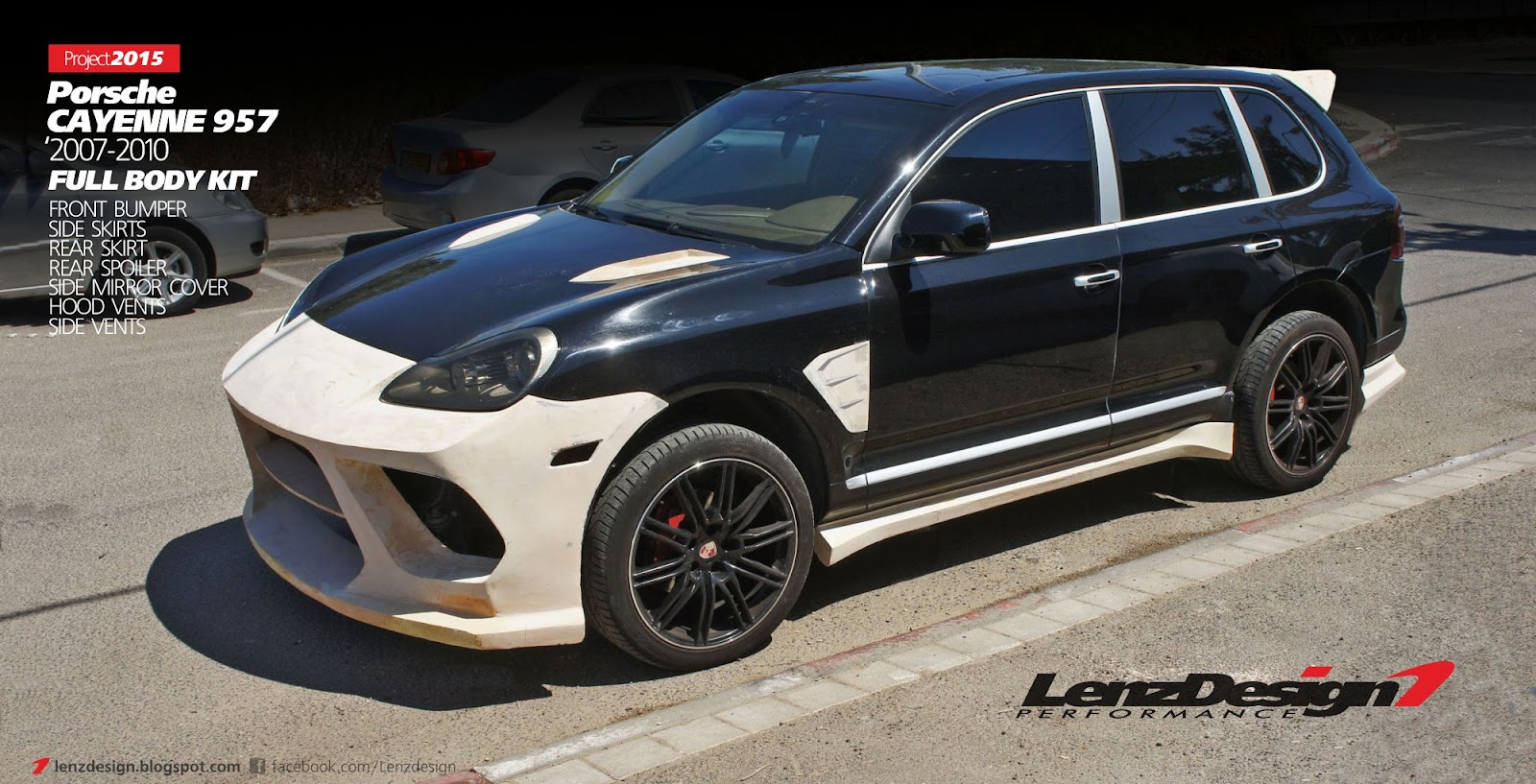 porsche cayenne 957 body kit lenzdesign performance. Black Bedroom Furniture Sets. Home Design Ideas