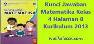 Kunci Jawaban Matematika Kelas 4 Pecahan Halaman 8 Wali Kelas Sd
