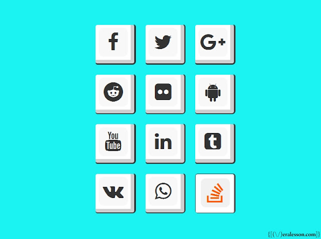 Social Media Icon Button With 100% Pure Css