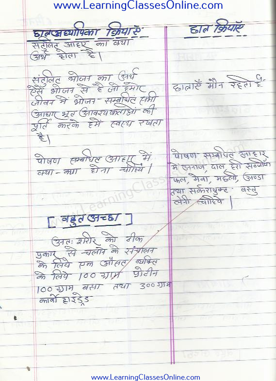 microteaching home science lesson plan on punarbalan kaushal skill