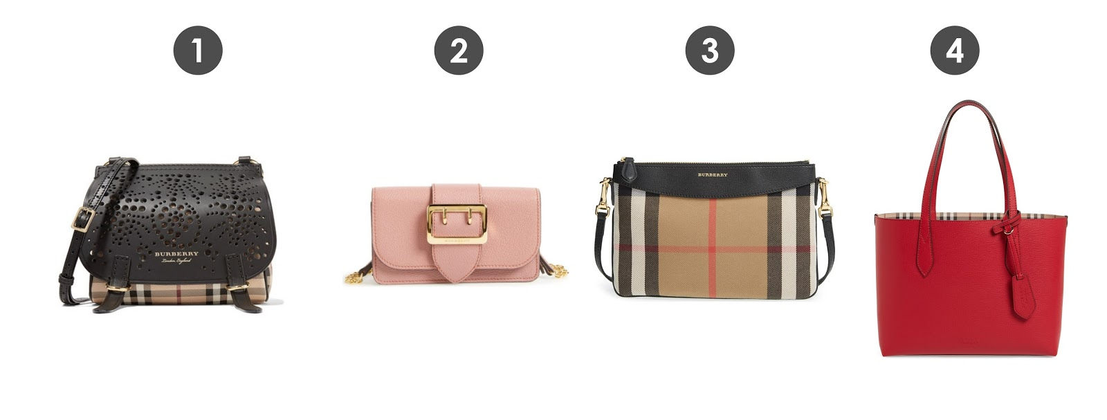 7980c8fd30f1 I love that some of the bags have the bold statement of Burberry s classic  checkered print while others have just small hints of it.