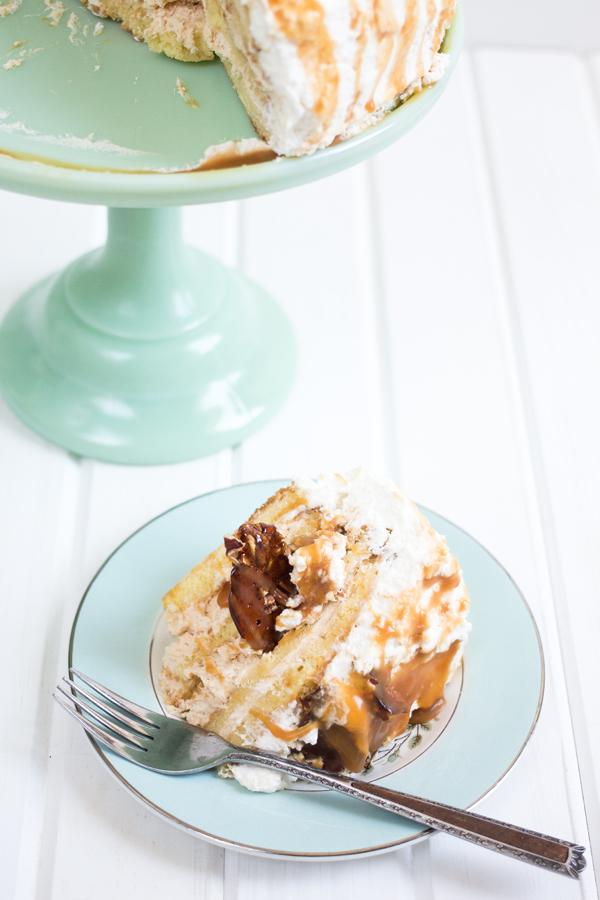 Praline Caramel Mousse Cake - La Cuisine d'Helene