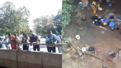 See What #EndSARS Protesters Did When They Met People Living Under The Bridge (Video)