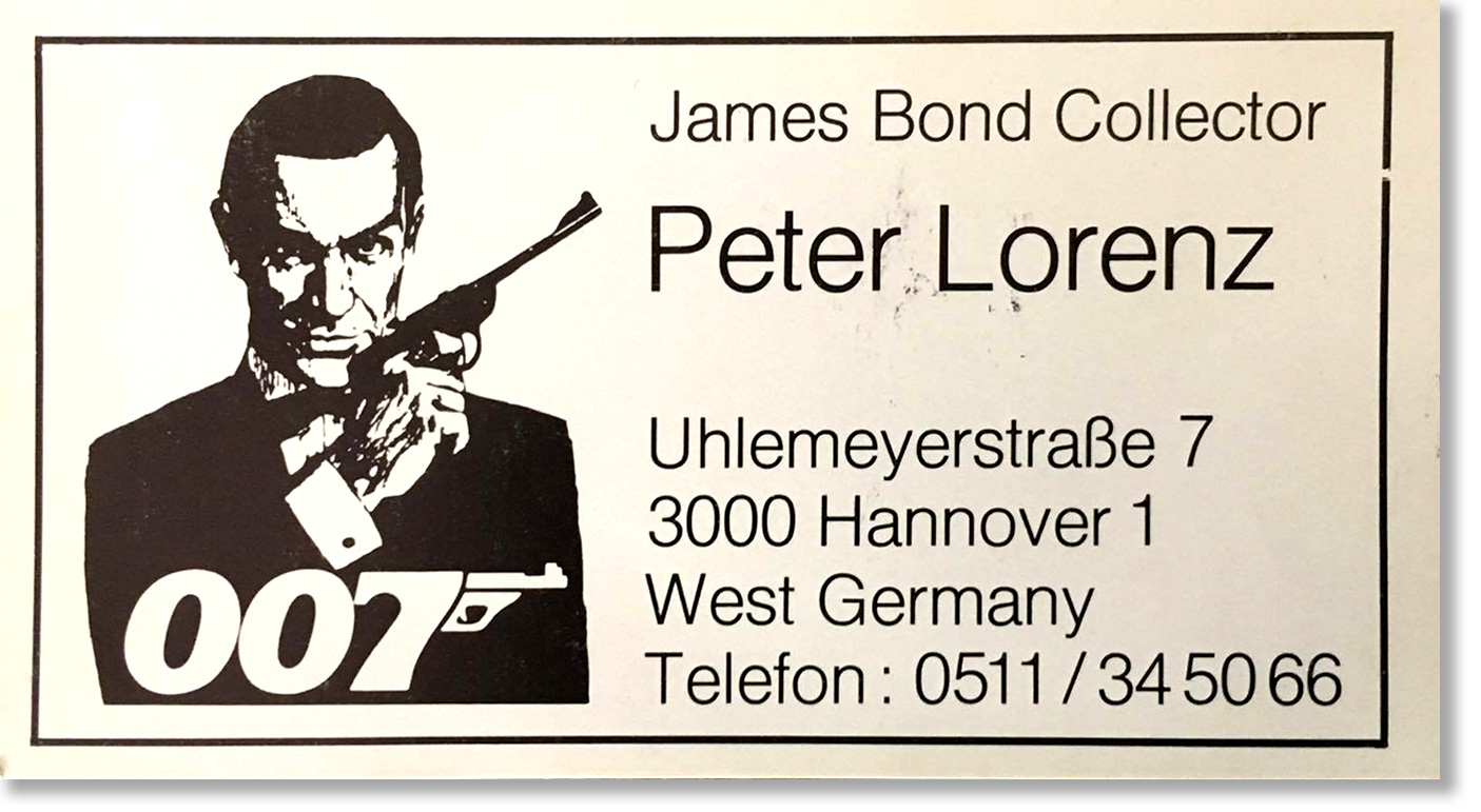 Illustrated 007 the art of james bond june 2017 my friend thomas dug up a blast from the past this is my business card from the 80s all contact info is out of date magicingreecefo Gallery