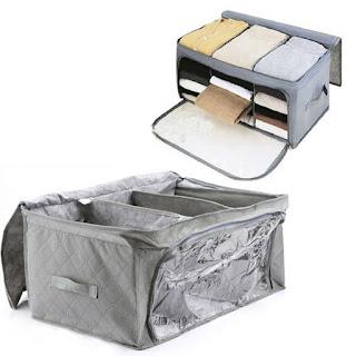 消臭効果のある竹炭の衣類収納ケース2個セット♪