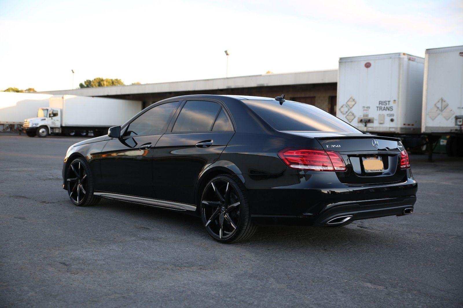 2014 mercedes benz w212 facelift e350 black on black for Mercedes benz black on black