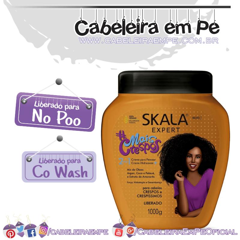 Creme de tratamento # Mais Crespos 2 em 1 - Skala (No Poo e Co wash)