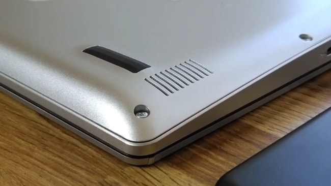 Down-firing speakers of this laptop.