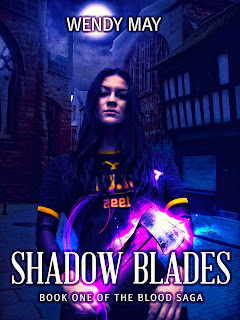 ebook covers premade, woman with glowing axe, urban fantasy book covers