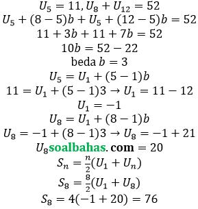 bahas jumlah barisan aritmatika
