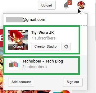 Create separate YouTube Channel - switch YouTube Channels