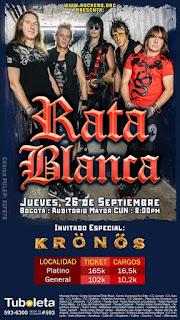POS Concierto de Rata Blanca by Request en Bogotá 2019