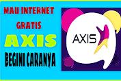 Cara Internet Gratis AXIS Unlimited terbaru paling ampuh