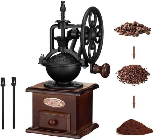 TTDC Vintage Style Wooden Hand Coffee Grinder