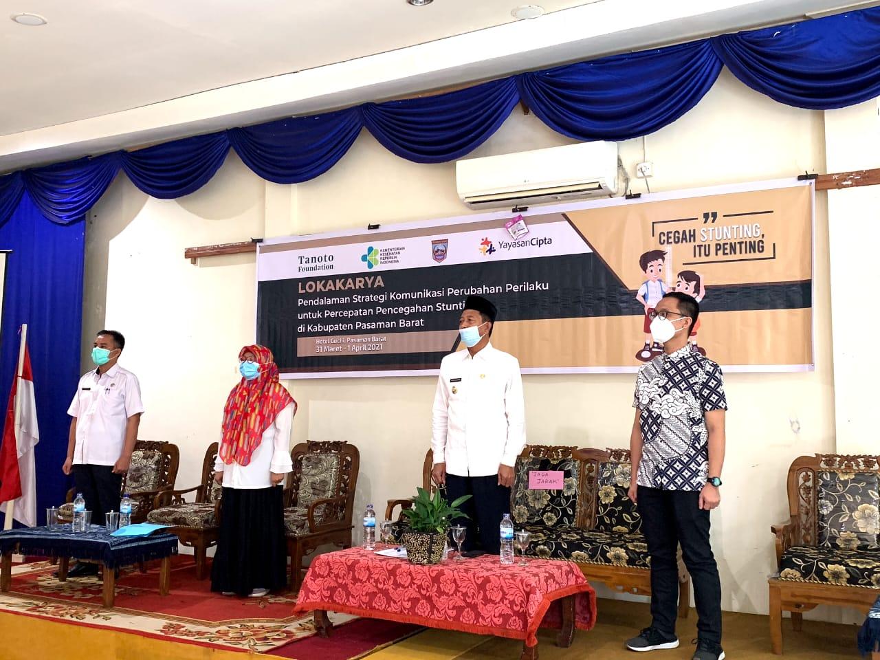 Lokakarya Pendalaman Strategi KPP Pencegahan Stuting di Pasbar Resmi Dibuka Wabup Risnawanto