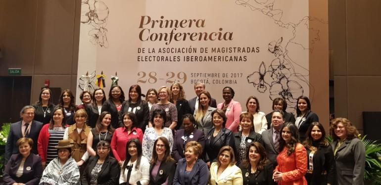 Primera Conferencia de la Asociación de Magistradas Electorales Iberoamericanas en la ciudad de Bogotá
