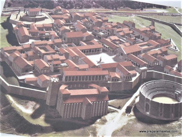 como era la ciudad romana Segóbriga Cuenca