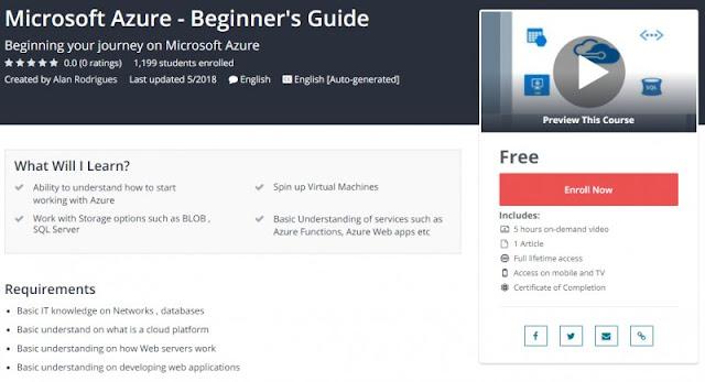 [100% Free] Microsoft Azure - Beginner's Guide