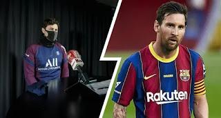 Mauricio Pochettino finally react to Messi-to-PSG rumours