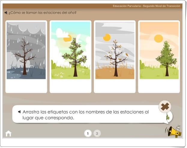 """""""Las estaciones del año"""" (Aplicación interactiva de Medio Físico de Educación Infantil)"""
