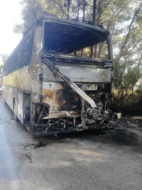Πρέβεζα: Έγκαιρη κατάσβεση φωτιάς σε λεωφορείο