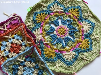 Starting the Persian Tiles crochet blanket octagons