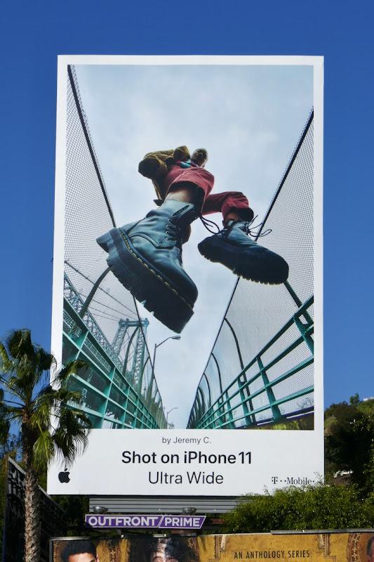 Shot on iPhone 11 Ultra Wide Jeremy C billboard