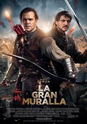 Cartel en español de 'La gran muralla'
