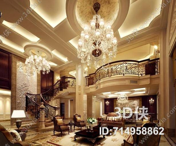 extraordinary european style living room design 3d house free pictures | Classic European Villa Living Room | Library Free 3D