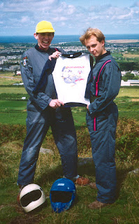 The back-up costume, in case their flight suits split - a rare original Airwolf Pyjamas top!