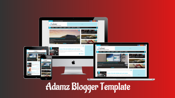 Adamz Magazine Premium Blogger Template - Responsive Blogger Template