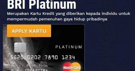 Cara Mengajukan Pembuatan Kartu Kredit Bri Mastercard Platinum Seo Redesign